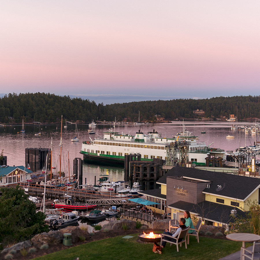 Friday Harbor in summer